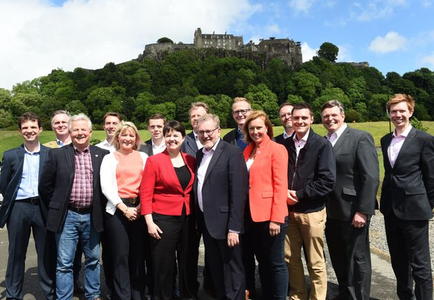 Ruth Davidson with Scotland's Tory