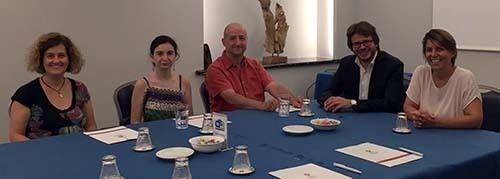 <em>Turin Epicurean promoters (L-R) Cecilia Garetto, Lucia Hannau, Marco Giachello, Fabio Borio and Chiara Ferrua Magliani (A