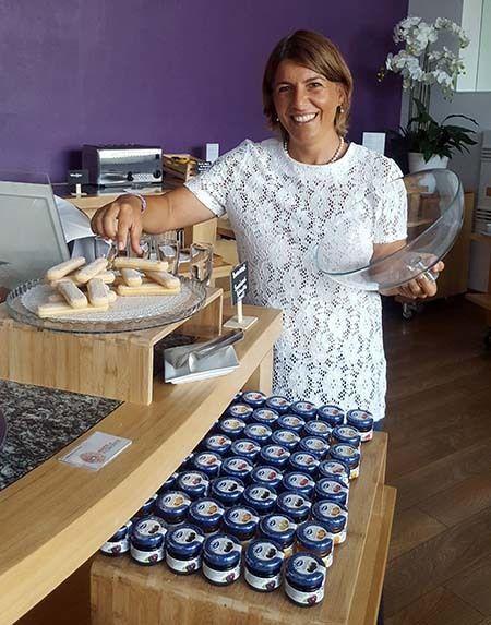 <em>Chiara Ferrua Magliani offers royal savoiardi cookies at her hotel (courtesy Hannau)</em>