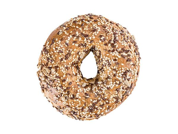The bagel should never be expected to be healthy. Let's all agree to let these two things live completely separate lives.