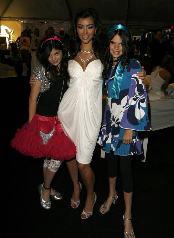 Kylie Jenner (left) at the Dash Fall 2007 Fashion Show in Los Angeles, CA.