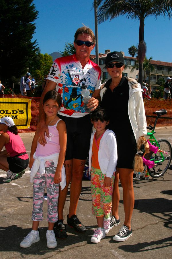 Kylie Jenner (right) at the 22nd Annual Santa Barbara Triathlon on Aug. 23, 2003 in Santa Barbara, CA.