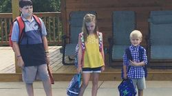 Mum Posts First Day Of School Pic That Shows Exactly How She Feels