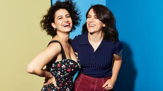 BEVERLY HILLS, CA - JULY 25:  Ilana Glazer and Abbi Jacobson of  Comedy Central/Viacom's 'Broad City' pose for a portrait during the 2017 Summer Television Critics Association Press Tour at The Beverly Hilton Hotel on July 25, 2017 in Beverly Hills, California.  (Photo by Smallz & Raskind/Getty Images)