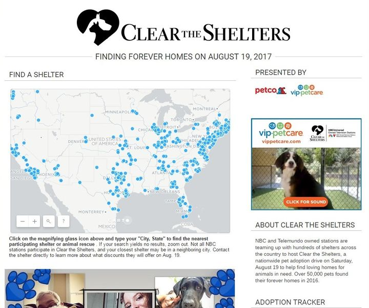 <em>Visit</em><u> cleartheshelters.com</u> to find participating animal shelters.