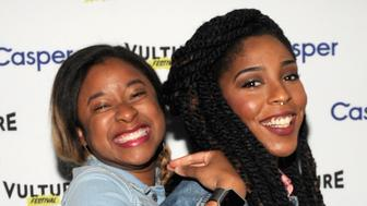 NEW YORK, NY - MAY 22:  Comedians Phoebe Robinson and Jessica Williams attend the 2 Dope Queens podcast at the Vulture Festival Casper Podcast Lounge at Highline Stages on May 22, 2016 in New York City.  (Photo by Brad Barket/Getty Images for Vulture Festival)