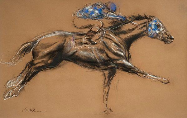 "Jeaneen Barnhart (American, born 1967), '<strong><em>June 9, 1973</em></strong>', Charcoal, pastel 35"" x 56"", $6,000"