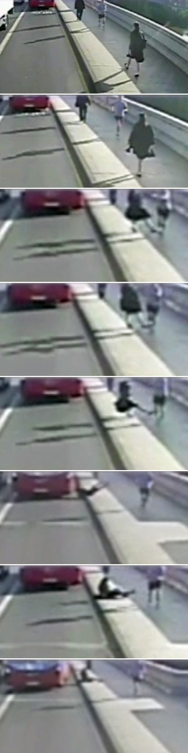 A sequence of pictures taken on CCTV shows what