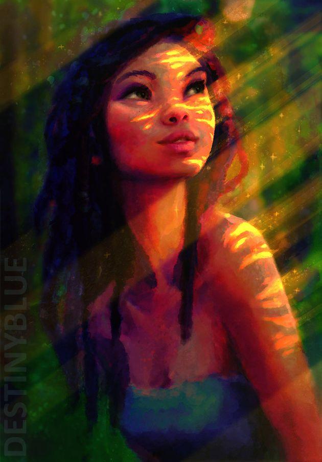 La artista DestinyBlue capta en estas mágicas ilustraciones el tormento de la