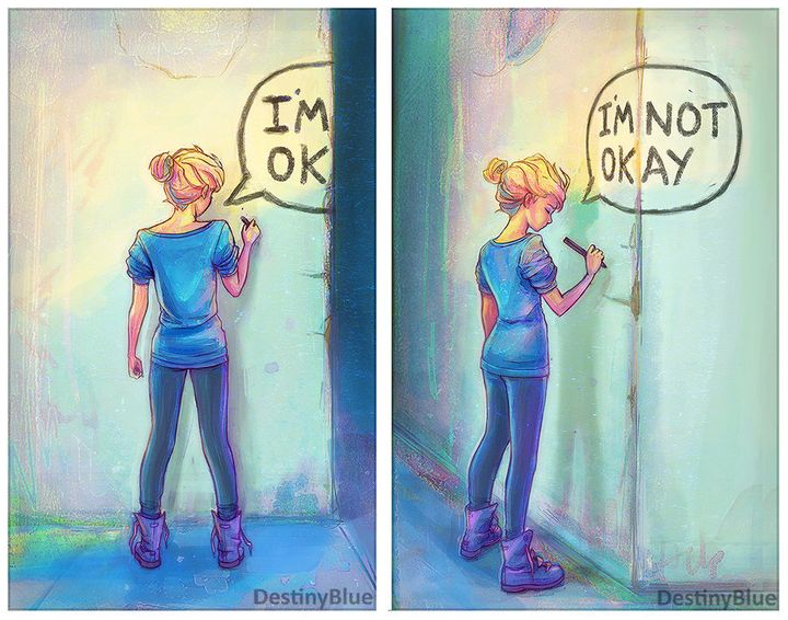 Artist Channels How Depression Feels Into Beautiful Drawings - Artist suffering from anxiety depression turns her life into funny illustrations
