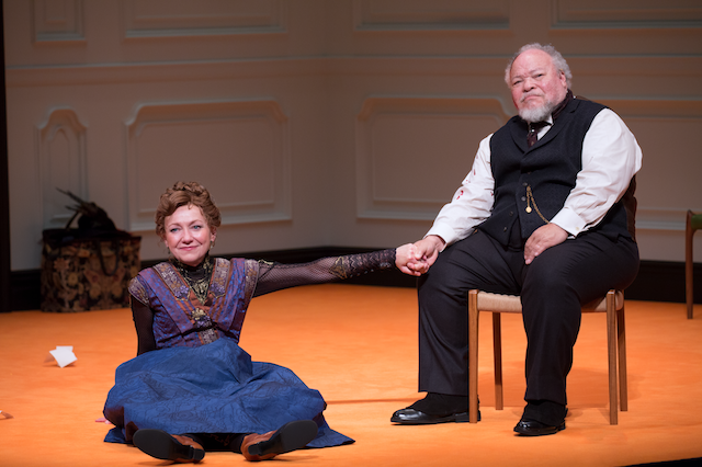 "Julie White and Stephen McKinley Henderson in ""A Doll's House, Part 2"""