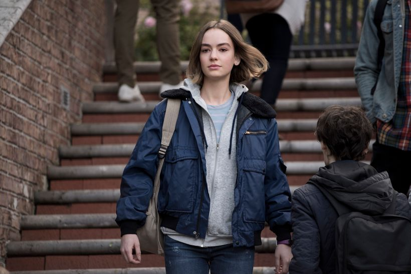 Brigette Lundy-Paine as Casey, the pit bull sister.