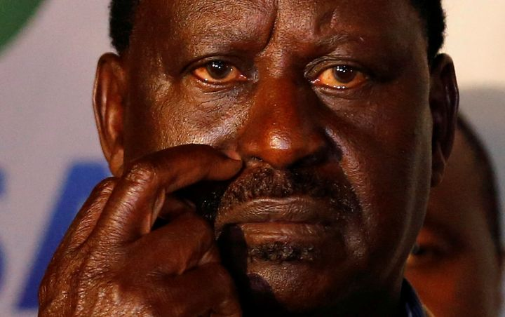 Raila Odinga at a news conference in Nairobi on Aug. 10.