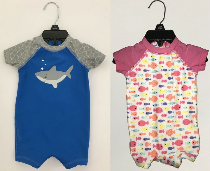The recall affects swimsuits from the brand Wave Zone ― specifically the one-piece, zip-back swimsuit for newborns, infants and toddlers.