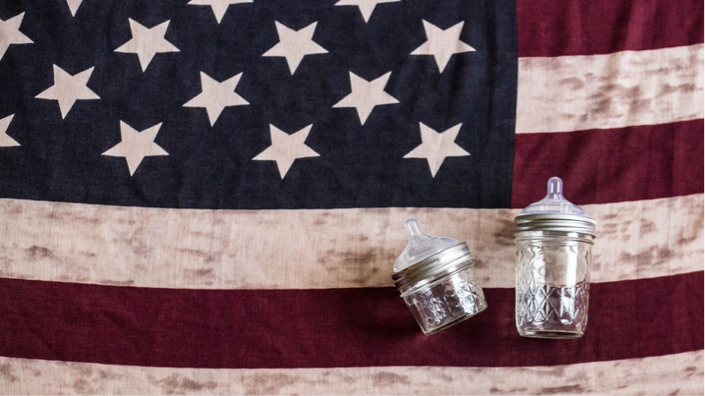 Both the Toddler Tumbler and The Original Mason Bottle are 100% Made in the USA.