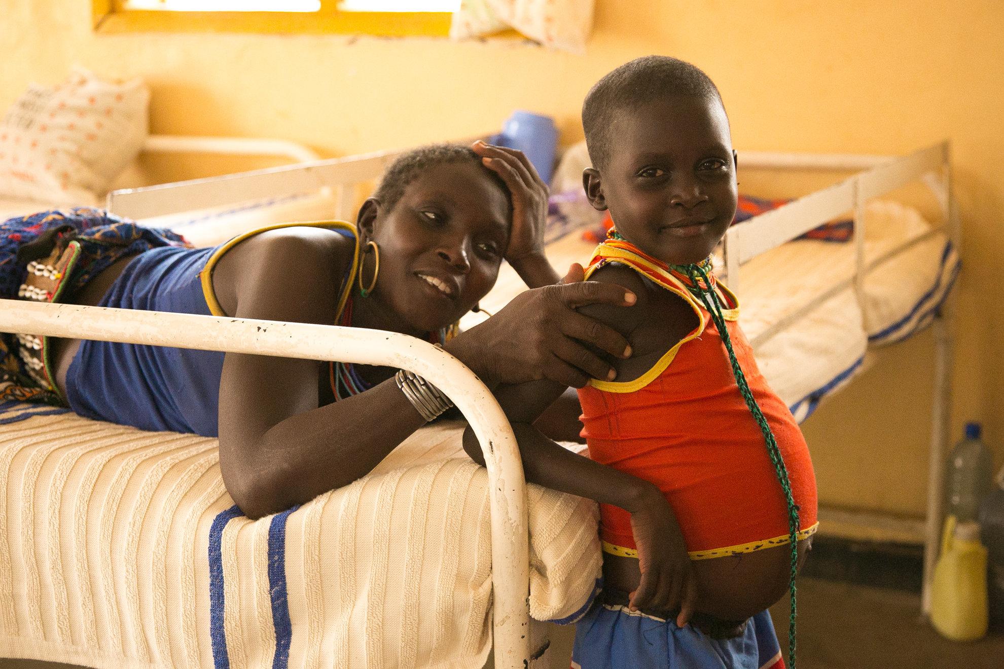 Patients inside the kala azar ward at Kacheliba Hospital