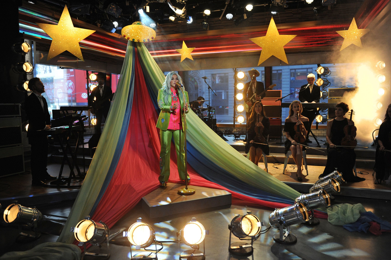 "Kesha performing on ""Good Morning America"" on Aug. 9."