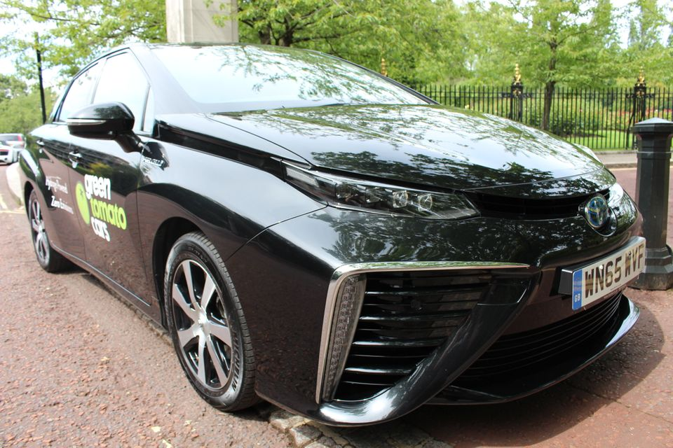 The Only Emission From Toyota Mirai Is Water Large Intake Outlets Are Shown Here