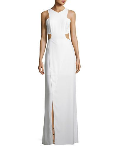 """Buy the <a href=""""http://www.neimanmarcus.com/Halston-Heritage-Sleeveless-Cutout-Stretch-Crepe-Column-Gown/prod202260153/p.pro"""