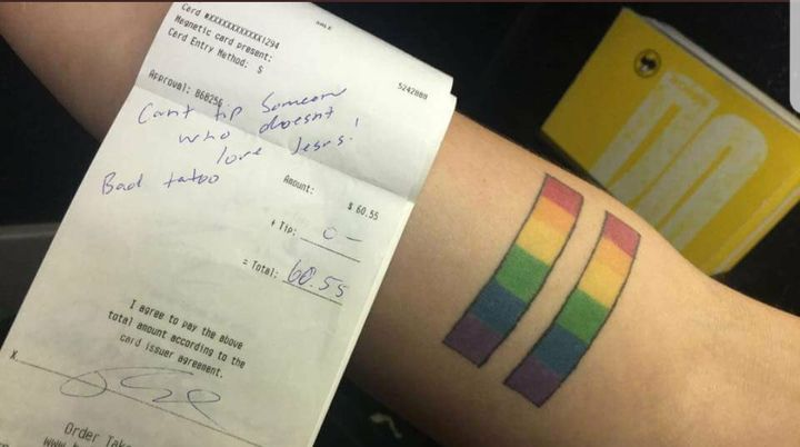 """""""What was written on my receipt wasn't right, and I hope nobody else has to read that,""""Samantha Heato"""