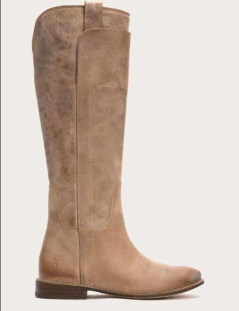 """Buy the <a href=""""http://www.thefryecompany.com/paige-tall-riding/d/77534C17587?CategoryId=144"""" target=""""_blank"""">Frye Paige Tal"""