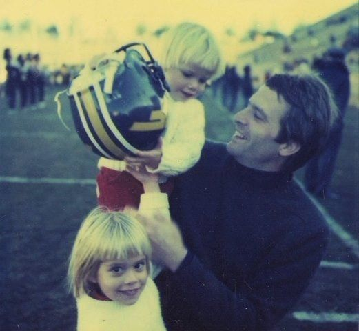 Michael King in the early 1980s with his son Mike and daughter Katie.