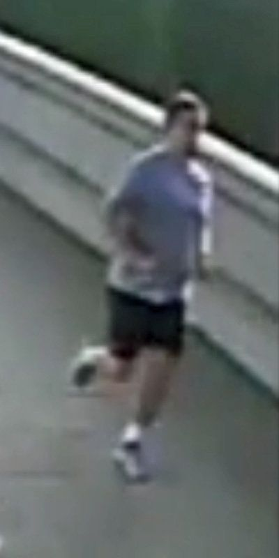 A bus driver swerved to avoid hitting the woman after she fell head-first into the