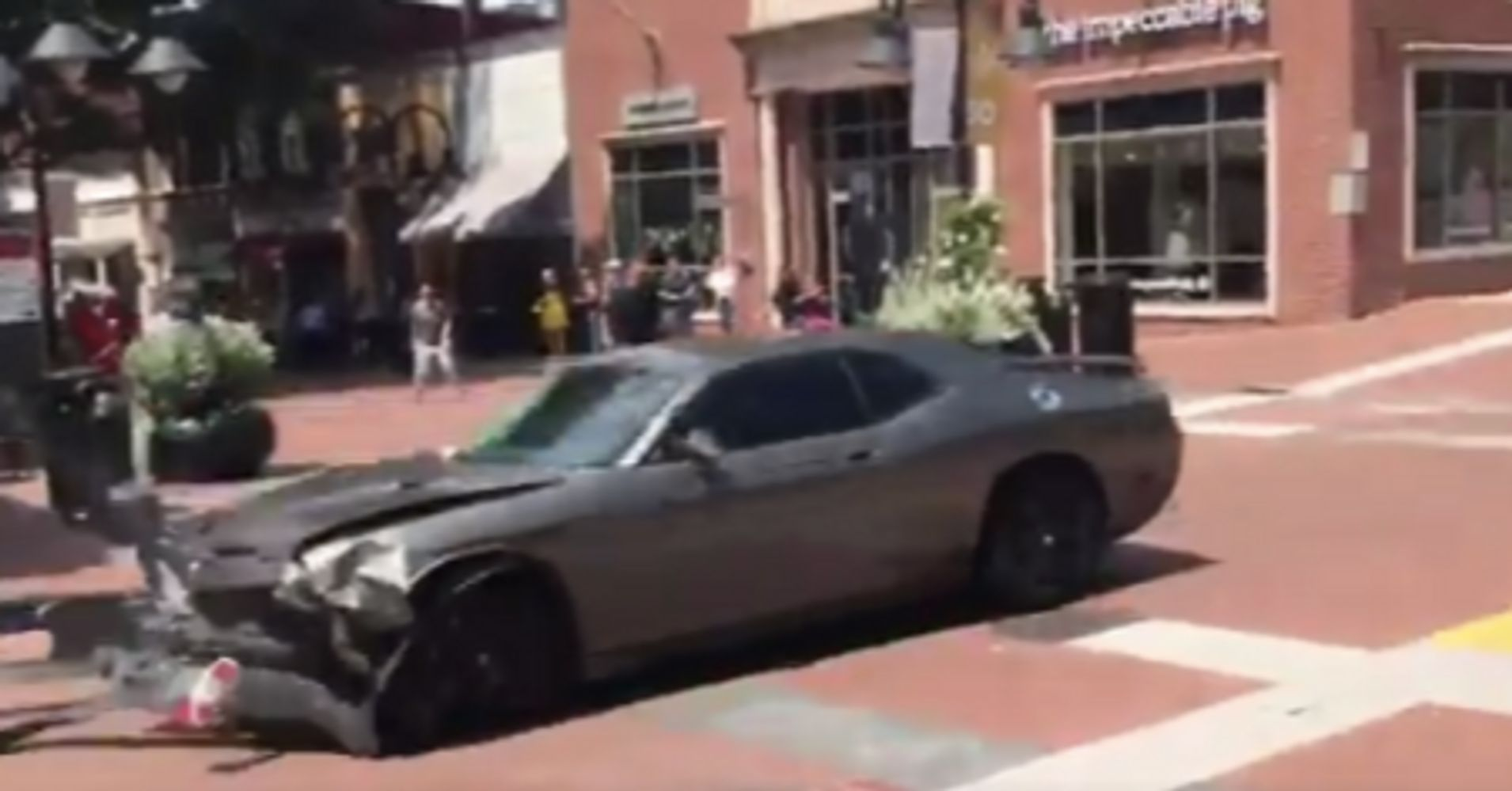 Car Plows Into Crowd At Racist Rally In Charlottesville