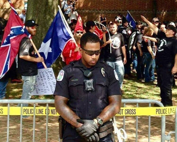 Charlottesville Cop Protects Americans Who Literally Hate