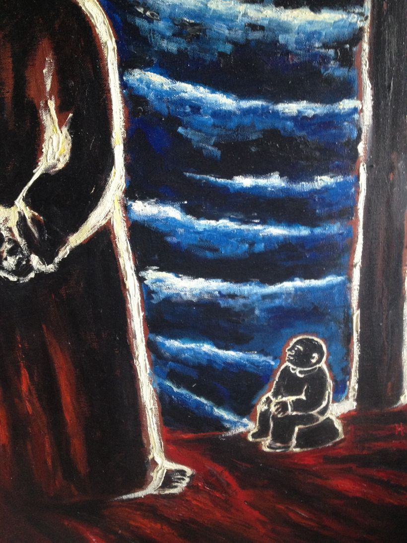 Zarathustra and Dwarf (detail).