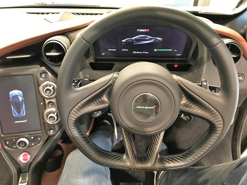 Behind the wheel in the McLaren 720S, completely electronic and out of this world.