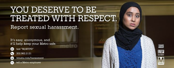 Report sexual harassment on the Metro system in Washington, D.C.