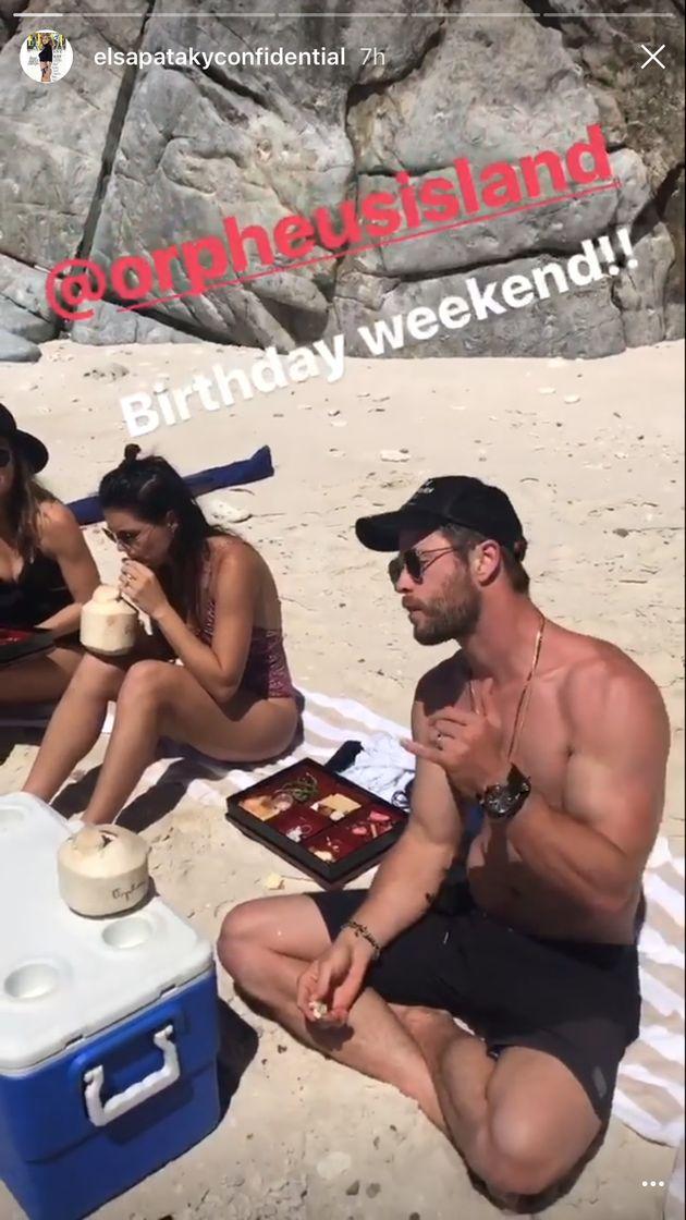Chris Hemsworth's Wife Elsa Pataky Posts Sweet Photo To Celebrate His