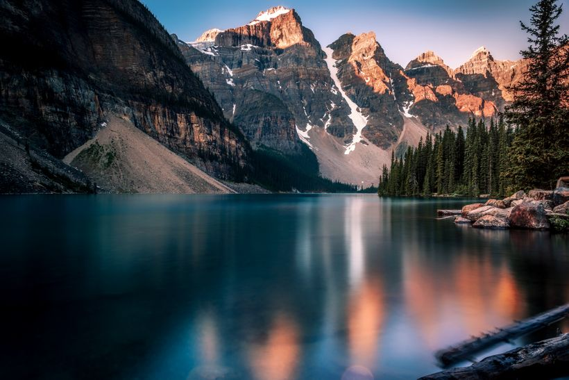 Moraine Lake on a Summer morning. The perfect place to be.