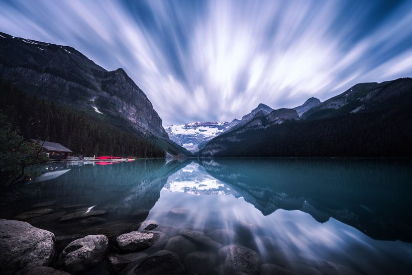 Lake Louise at Dawn. Long exposure.