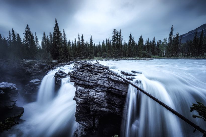 After the storm at Athabasca Falls. Power.
