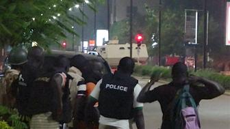 Police surrounded a restaurant in Ouagadougou Burkina Faso on Sunday after suspected jihadists raided the establishment