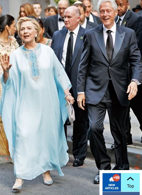 The Clinton's attend the wedding of Billionaire heiress, Sophie Lasry.