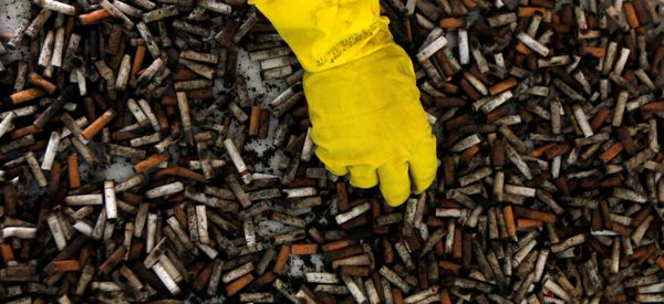 A Scientist Has A Remarkable Plan To Harness The Billions Of Cigarette Butts We Drop Every Year