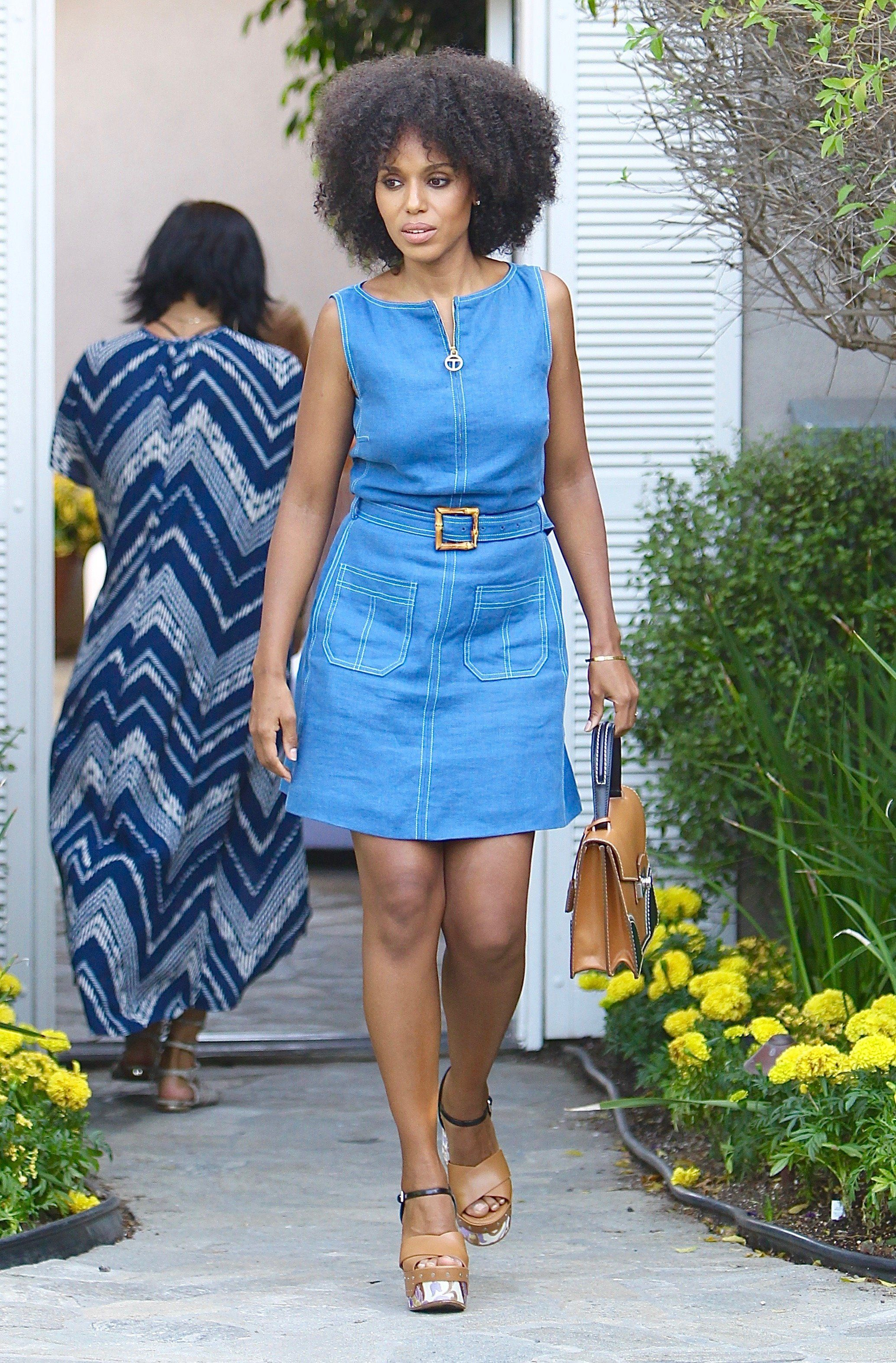 Kerry Washington attends Jennifer Klein's Day of Indulgence Party in Brentwood, California.