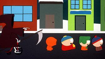 1998 'Death', 'Kenny', 'Cartman', 'Kyle', and 'Stan' are the characters in the hit series 'South Park.'