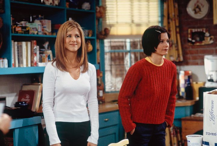 Aniston as Rachel Green.