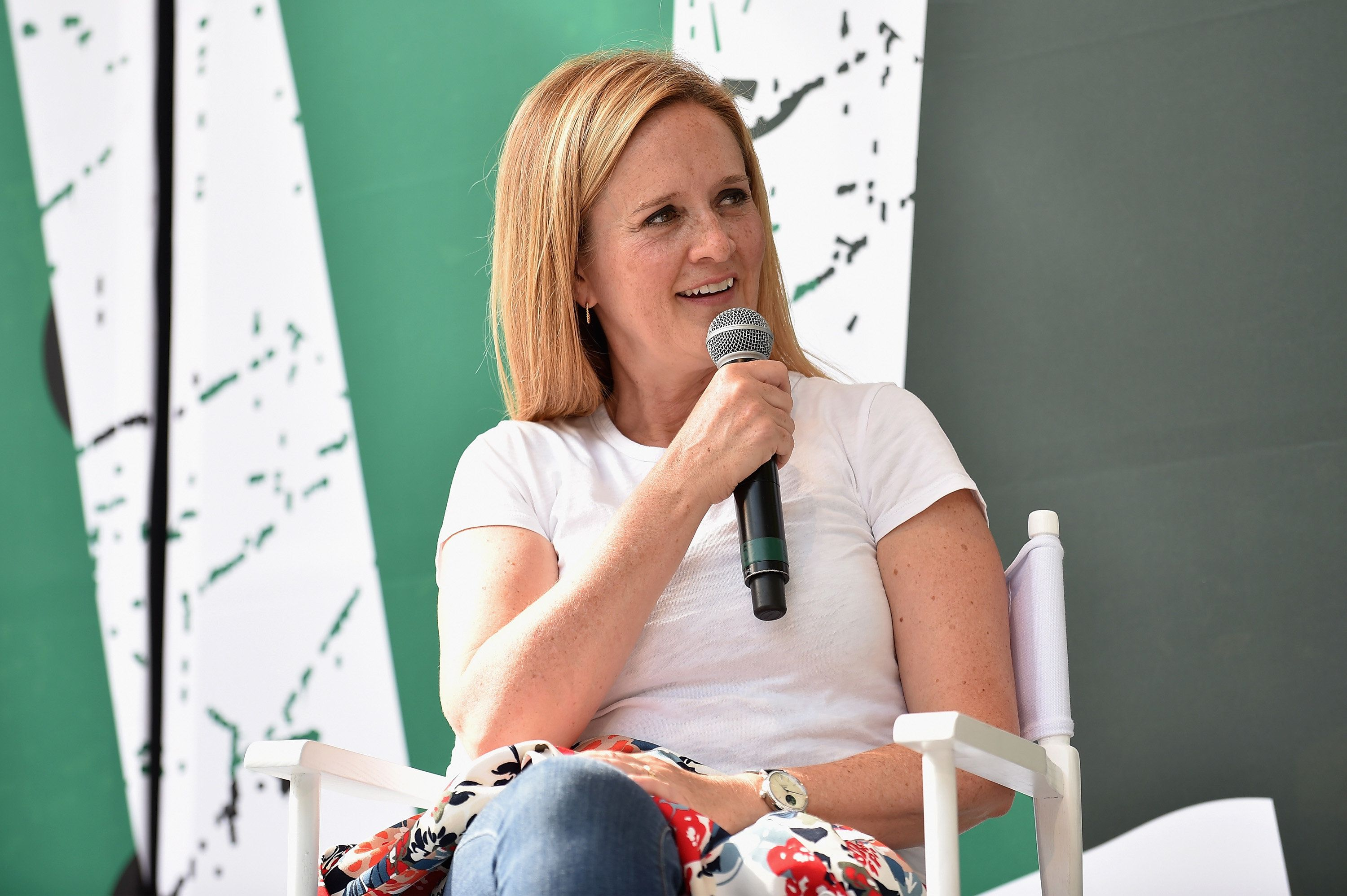 Samantha Bee, pictured in July, took on white nationalists in a press release Monday.
