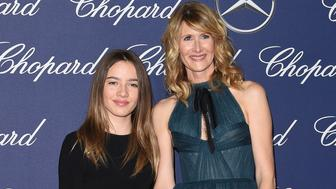 PALM SPRINGS, CA - JANUARY 02:  Actress Laura Dern (R) and daughter Jaya Harper arrives at the 28th Annual Palm Springs International Film Festival Film Awards Gala at Palm Springs Convention Center on January 2, 2017 in Palm Springs, California.  (Photo by Axelle/Bauer-Griffin/FilmMagic)