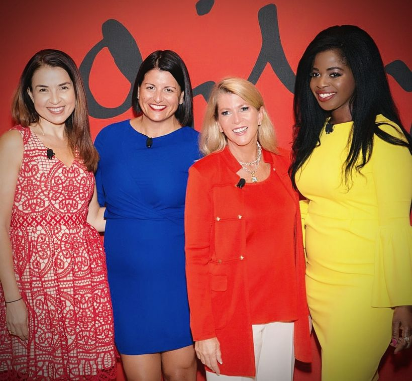 From left to right: Kathy Baird [Ogilvy], Jennifer Risi [Ogilvy], Anne Madison [Brand USA], Tola St. Matthew-Daniel [Ogilvy]