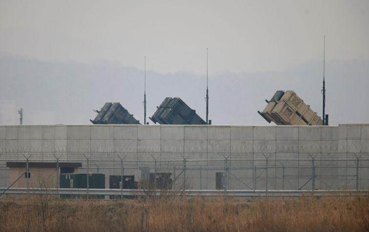 U.S. Army Patriot missile air defence artillery batteries are seen at U.S. Osan air base in Osan, south of Seoul April 5, 201