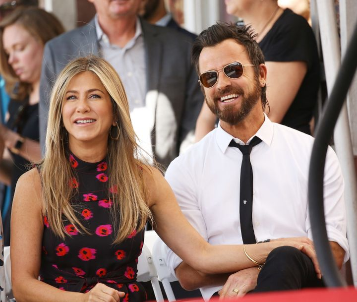 Jennifer Aniston and Justin Theroux.