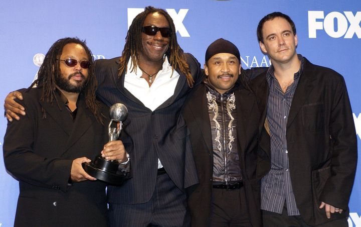 Members of The Dave Matthews Band were honored at the NAACP Image Awards in 2004 for their efforts to utilize their professio