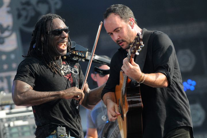 Dave Matthews and Boyd Tinsley (left) of The Dave Matthews Band perform in New Orleans.