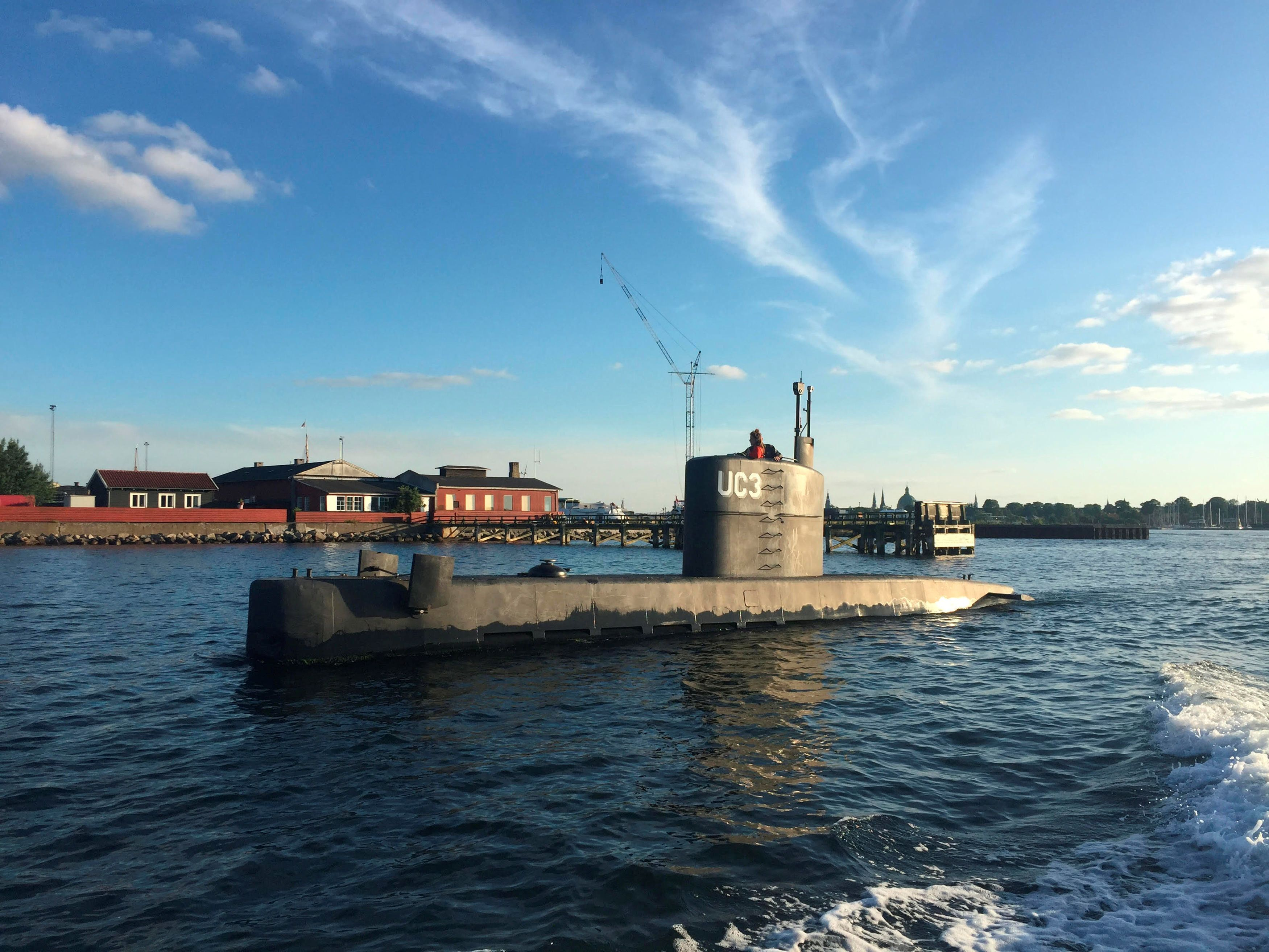 The UC3 Nautilus is seenin Copenhagen Harbor, Denmark, on Aug. 11, 2017.